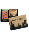 29903 Zippo öngyújtó, tükrösre polirozott alapon, fa és levél mintával -WOODCHUCK