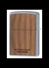 49056 Zippo öngyújtó, ezüst színű alapon, fa motivummal,lóhere mintával