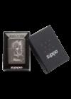 49141 Zippo öngyújtó, black ice színben,koponya mintával, gravírozható