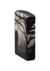 49188 Zippo öngyújtó, black ice színben,360°-os kép díszítéssel,farkas mintával