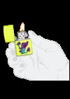 49189 Zippo öngyújtó, sárga színben,domború gomba mintával