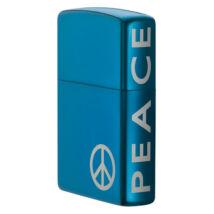 21055 Zippo öngyújtó kék króm színben- Peace