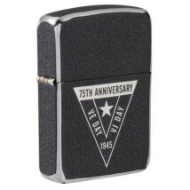 49264 Zippo öngyújtó fekete színben VE/VJ 75th Anniversary Collectible
