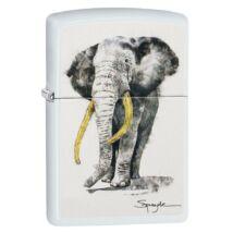 29844 Zippo Öngyújtó, fehér színben Spazuk -Elefánt