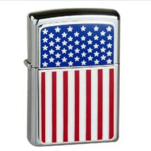 20108 Zippo öngyújtó,fényes ezüst színben - Amerikai zászló