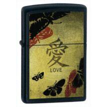 20839 Zippo öngyújtó fekete színben -Chinese Love Theme Windproof