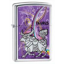 24932 Zippo öngyújtó, fényes ezüst színben - Bika horoszkóp
