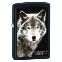 28303 Zippo benzines öngyújtó, matt fekete színben -Farkas