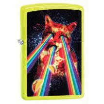 29614 Zippo öngyújtó sárga színben  -Pizza Cat Rainbow