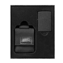 49402 Zippo Fekete öngyújtó és fekete MOLLE tasak díszdobozban