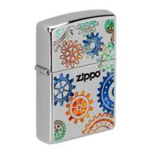 49432 Zippo Öngyújtó króm színben -Színes fogaskerekek Zippo logóval