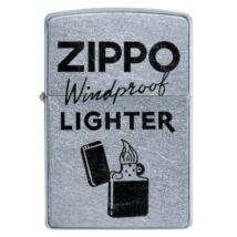 49592 Zippo Öngyújtó ezüst színben - Zippo felirattal