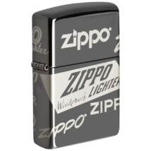 49051 Zippo öngyújtó Black Ice színben -Zippo logó