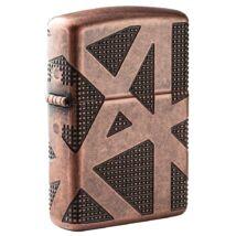 49036 Zippo öngyújtó Antik sárgaréz, texturált dizájn