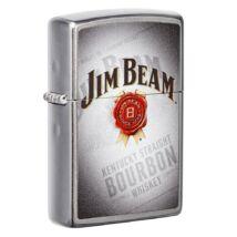 49323 Zippo öngyújtó, fényes ezüst színben -Jim Beam