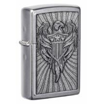 49450 Zippo öngyújtó, fényes ezüst színben - Eagle Shield