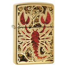 29096  Zippo öngyújtó, arany színben-Skorpió