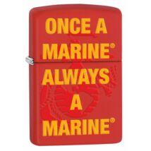 29387 Zippo öngyújtó matt piros színben - Egy tengerész mindig tengerész