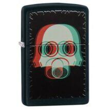 29417 Zippo öngyújtó, Matt fekete színben - Nuclear Mask