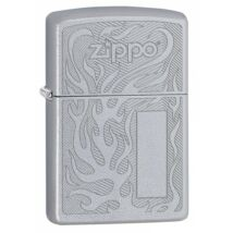 29698 Zippo öngyújtó,Selyemfényû Króm Zippo öngyújtó, Zippo logóval, gravírozható cimkével