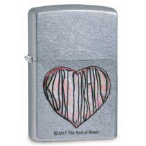 29708 Zippo öngyújtó, szatén fényű króm színben - Kurt Cobain szívben