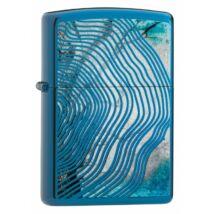 29827 zippo öngyújtó, polirozott kék, fa erezet