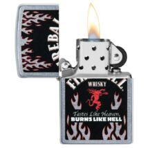 29833 Zippo benzines öngyújtó, utcai csiszolt kivitelben- Fireball