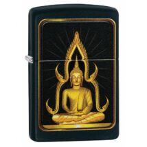 29836 zippo öngyújtó, fekete színű, Buddha
