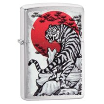 29889 Zippo öngyújtó, króm színben - Tigris