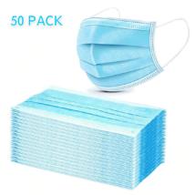 50 db-os 3 rétegű egyszer használatos szájmaszk felnőtt méretben