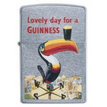 49093 Zippo öngyújtó, Utcai csiszolt ezüst színű,Guinness Toucan motivummal