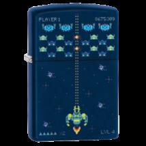 49114 Zippo öngyújtó, tengerész kék színben, Gamer mintával