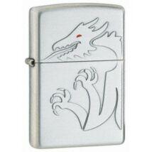 20470 Zippo öngyújtó, ezüst színben - Vörös szemű sárkány