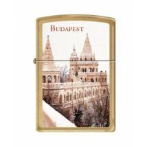 204B-011331 Zippo öngyújtó, Budapest, Halászbástya képpel