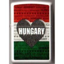 214 ILH1 Zippo öngyújtó, fehér színben - I Love Hungary