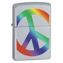 24475 Zippo öngyújtó, csiszolt ezüst színben - Peace