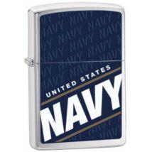 24813 Zippo öngyújtó, csiszolt ezüst színben - Haditengerészet