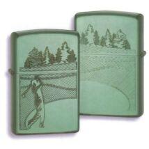 24838 Zippo öngyújtó, finoman csiszolt zöld színben - Golfpálya