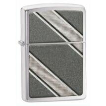 24872 Zippo öngyújtó, ezüst színben - Átlós minták
