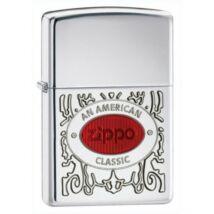 28069 Zippo öngyújtó,  ezüst színben logóval