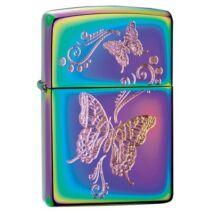 28442 Zippo öngyújtó, spektrum színeiben, pillangó mintával díszítve