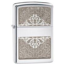 28467 Zippo öngyújtó, ezüst színű, vésett mintával díszítve