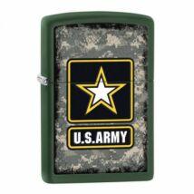 28631 Zippo öngyújtó, zöld matt színben, ajándékdobozzal - US Army