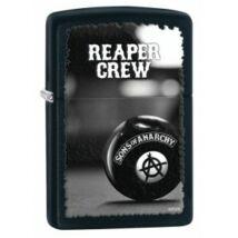 28677 Zippo öngyújtó matt fekete színben - Reaper Crew