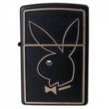 28816 Zippo öngyújtó, matt fekete színben, Playboy emblémával