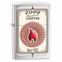 28831 Zippo öngyújtó, csiszolt króm színben logóval - Windproof lighter 1932