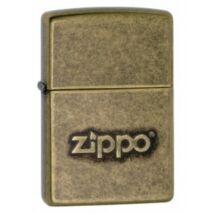 28994 Zippo öngyújtó, antikolt réz színben - Zippo felirattal