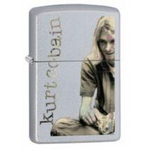 29052 Zippo öngyújtó, szatén fényű króm színben - Kurt Cobain