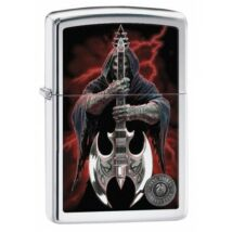29109 Zippo öngyújtó, csiszolt króm színben - A halál gitárosa