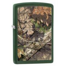 29129 Zippo öngyújtó. matt zöld színben - Őszi falevelek